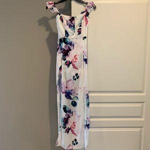 White floral dress from Tobi